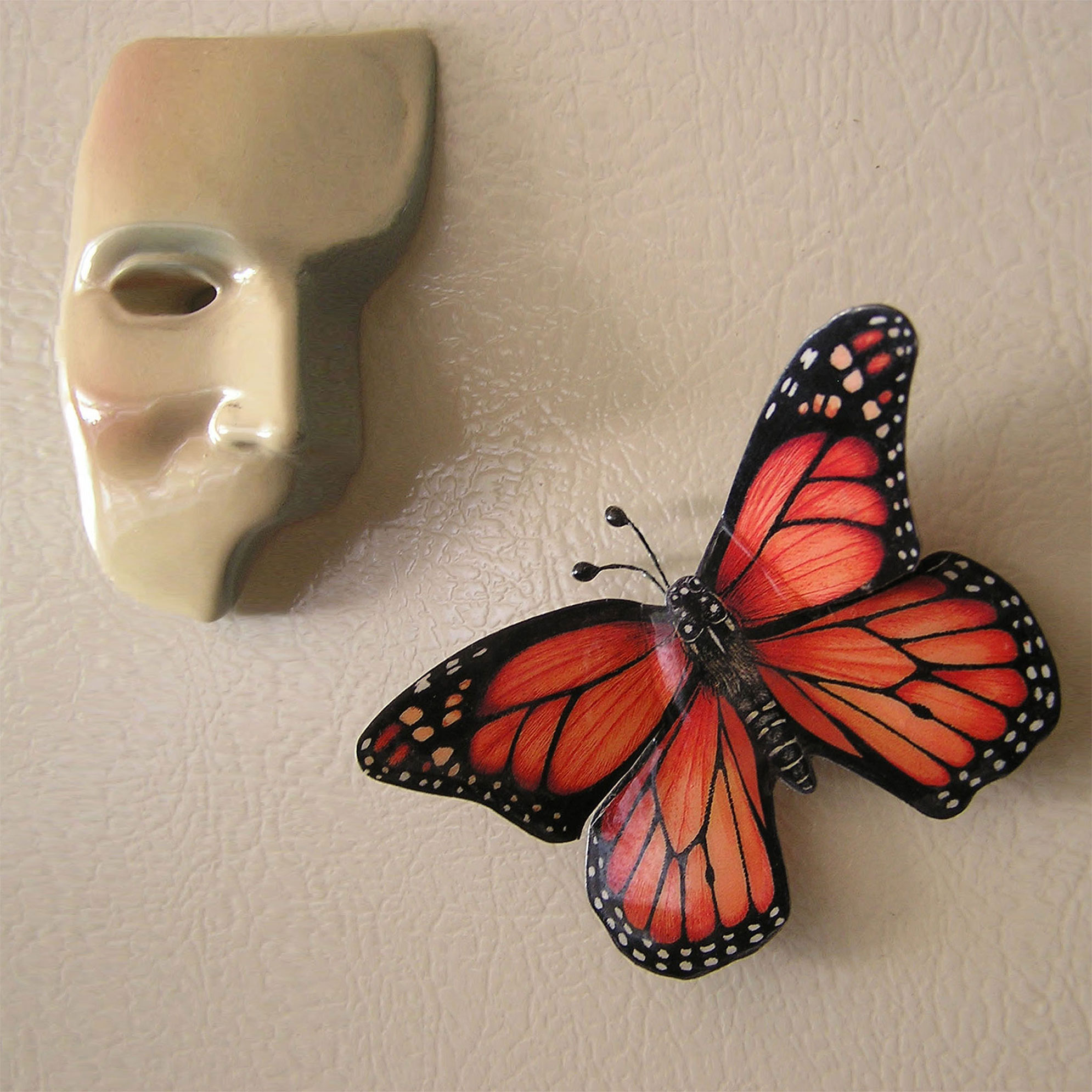 Butterfly with face mask